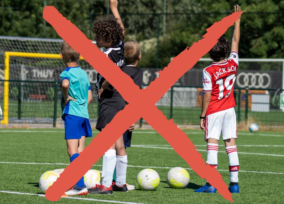 Geen voetbalstages in de Herfstvakantie